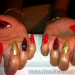 red mix stiletto nail art