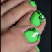 toe green nail design